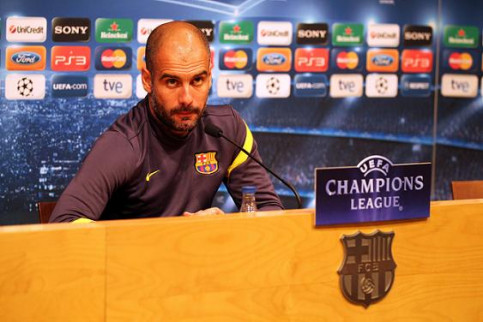 Barça Manager, Pep Guardiola, at the press conference held yesterday evening (by FC Barcelona)