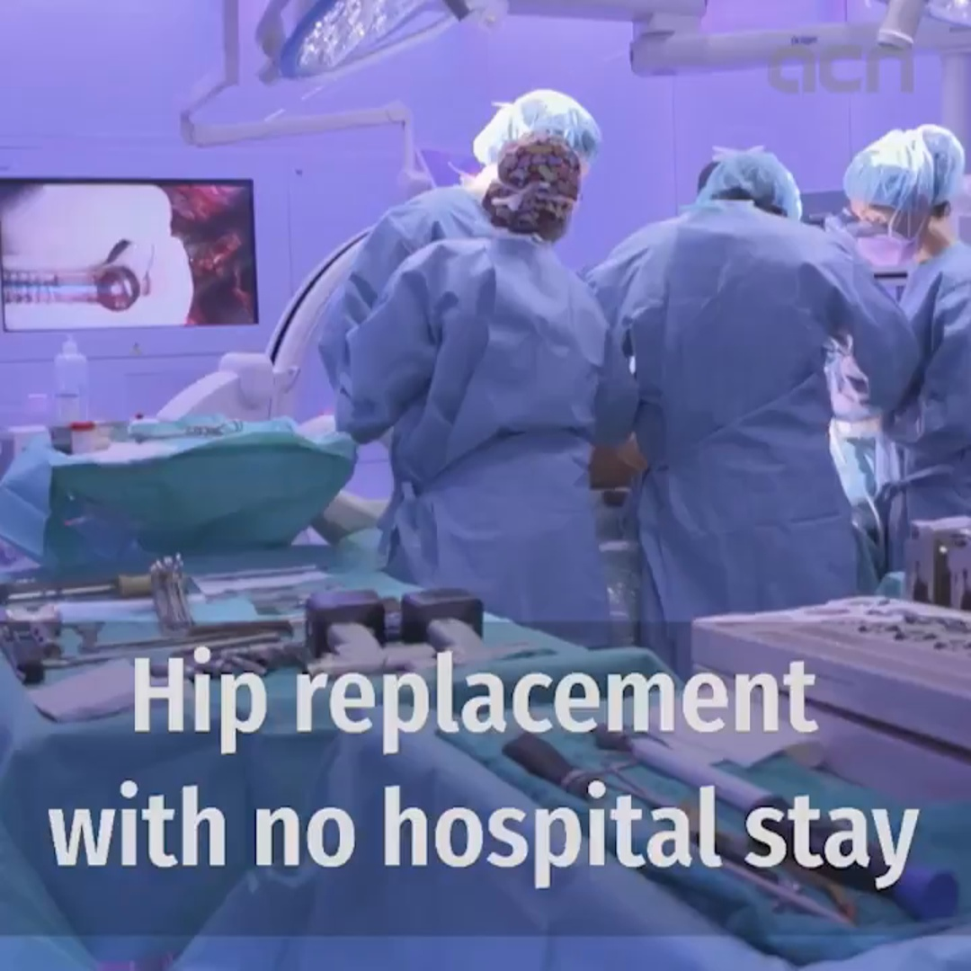 Breakthrough hip replacement surgery with no overnight stay
