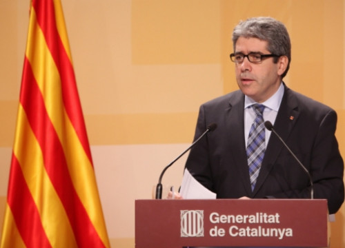 The Catalan Minister for the President, in charge of External Relations, Francesc Homs, on Tuesday (by O. Campuzano)