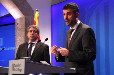 The Catalan Government's Spokesperson, Francesc Homs (left) and Santi Vila (right) (by P. Mateos)