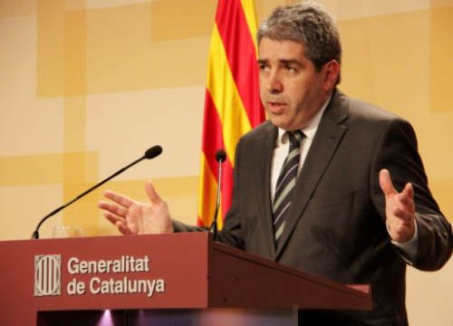 The Spokesperson for the Catalan Government, Francesc Homs, on Tuesday (by M. Bélmez)