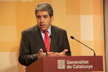 The Spokesperson for the Catalan Government, Francesc Homs, on Tuesday (by P. Mateos)