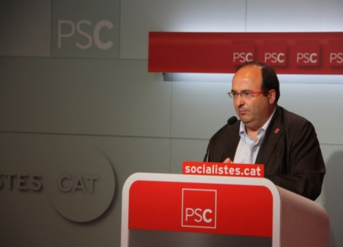 Miquel Iceta announced that the PSC would not ask for a referendum (by A. Moldes)