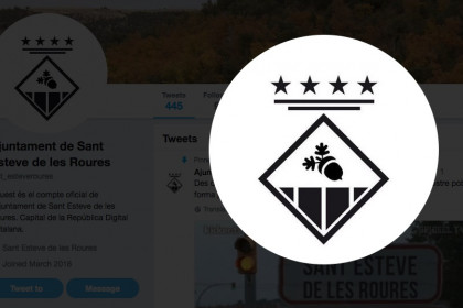 Screenshot of Sant Esteve de les Roures Twitter profile