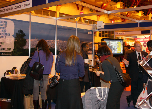 The Barcelona exhibitor in the 'Business Startup Show', in London (by ACN)