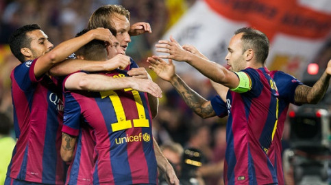 Barça scored the first two goals in the first half of the game (by FC Barcelona)
