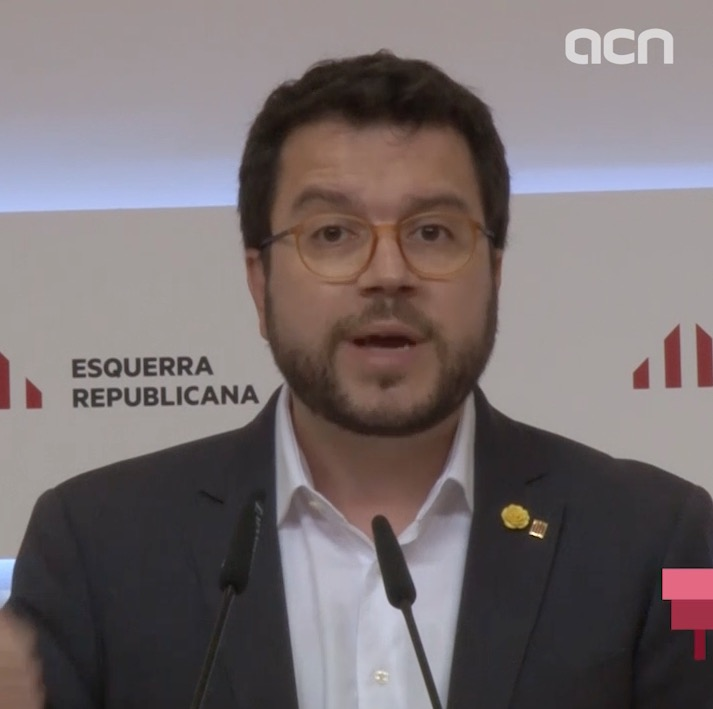 Pere Aragonès says Esquerra is willing to negotiate with JxCat over Barcelona regional council presidency