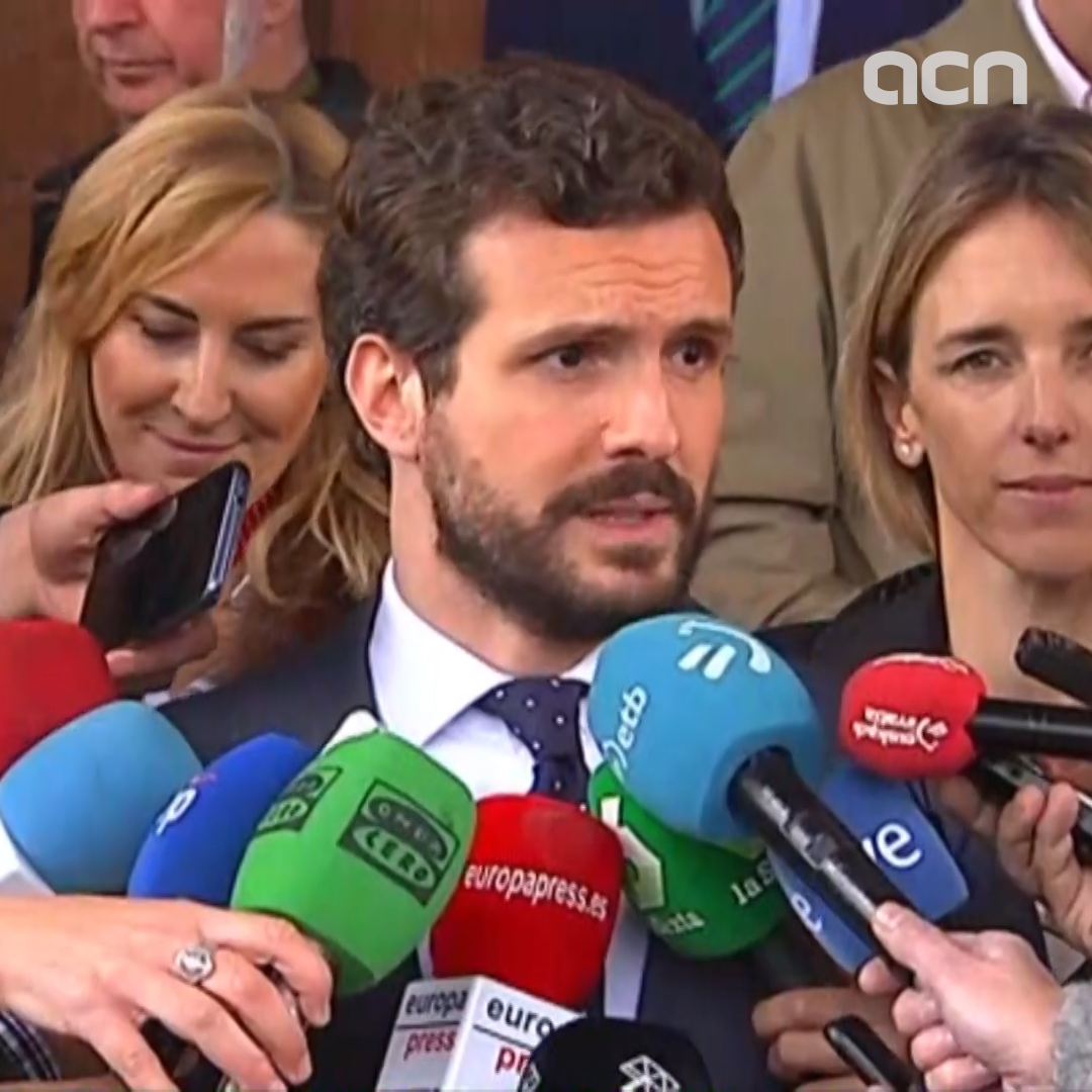 Pablo Casado says Torra 'cannot stay on as Catalan president one more second'