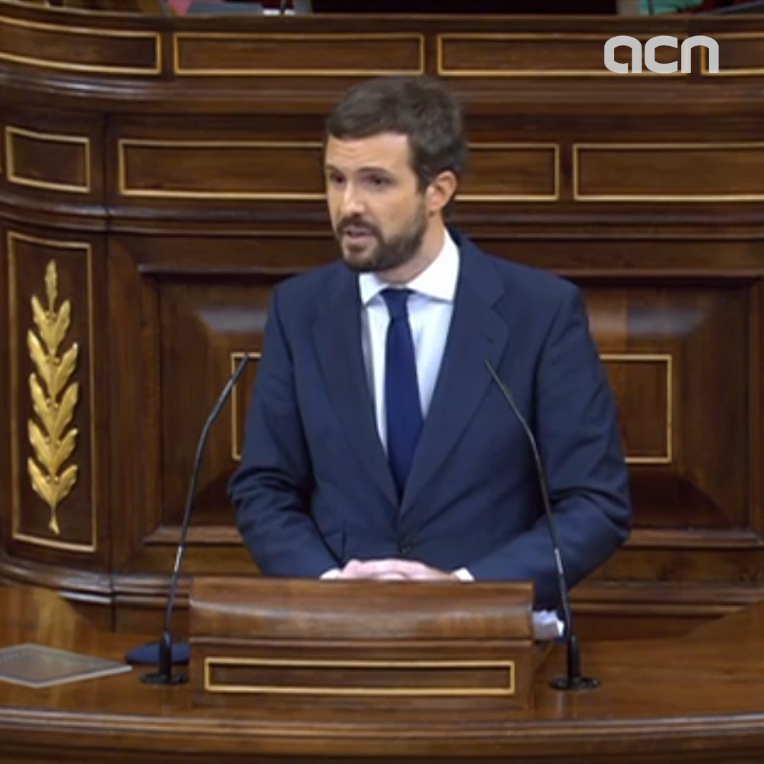 'We are against the division that you seek', PP's Casado tells far-right MP