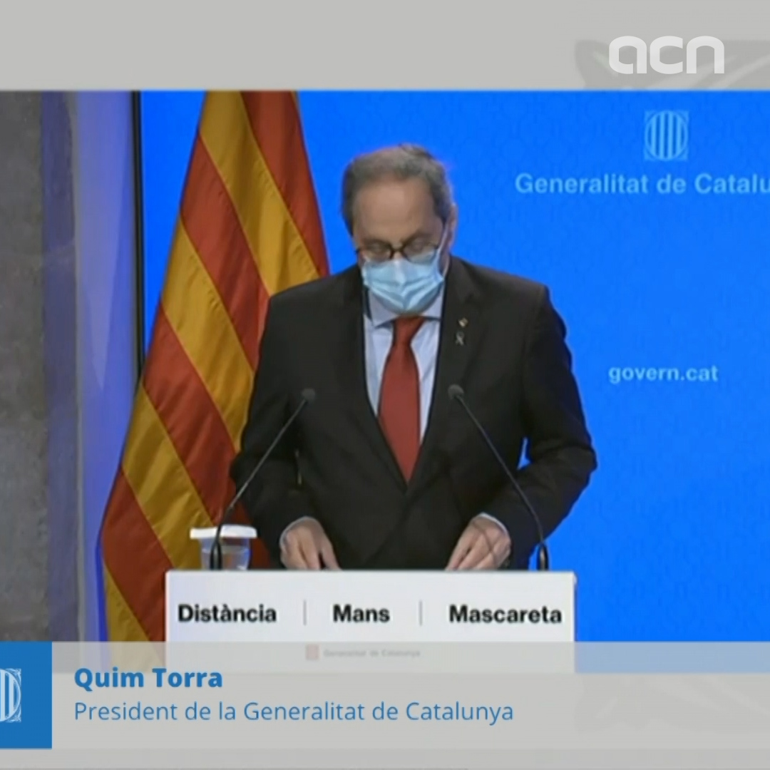Torra speaks out against court ruling lifting Lleida's stay-at-home order