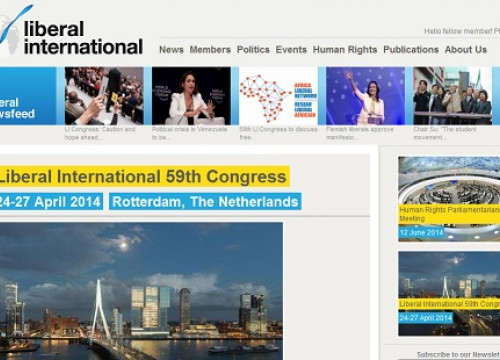 The website of the International Liberal 59th Congress (by International Liberal)