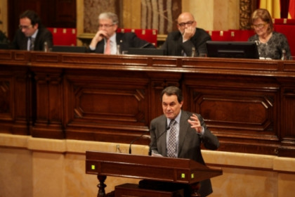 Artur Mas during his investiture speech before the Catalan Parliament (by O. Campuzano)