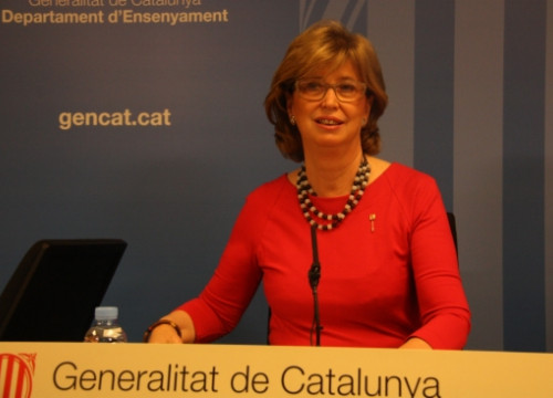 The Catalan Education Minister, Irene Rigau, on Friday (by E. Rosanas)