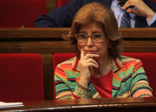 The Catalan Education Minister, Irene Rigau, at Catalonia's Parliament on Thursday (by R. Garrido)