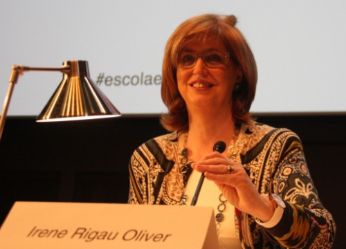 The Catalan Education Minister, Irene Rigau, on Thursday in Barcelona (by P. Mateos)