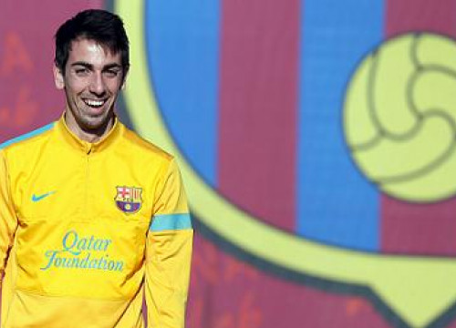 Isaac Cuenca in a recent training session with the Catalan team (by FC Barcelona)