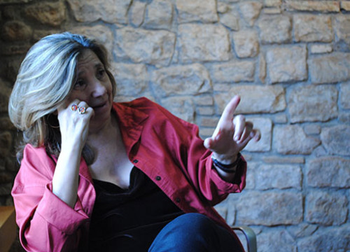 Isona Passola, during the interview (by M. Fayos)
