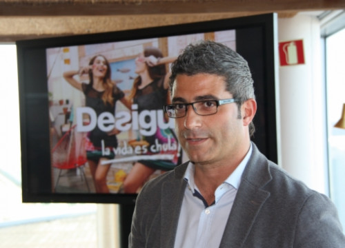 Jadraque presenting Desigual's results for 2013 (by J. Molina)