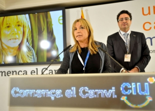 Joana Ortega was CiU's number two in the last Catalan elections (by ACN)