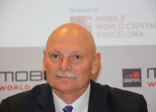 John Hoffman, Director of the Mobile World Congress, presenting this year's event (by J. Molina)