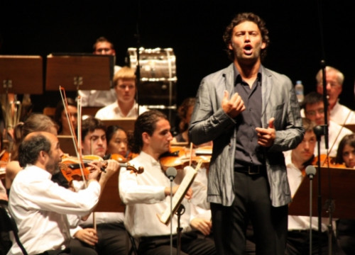 The German tenor Jonas Kaufmann sung yesterday evening, at the festival's closing concert (by M. López)