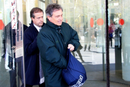 Jordi Pujol Ferrusola, leaving the court building on Thursday (by P. Mateos)