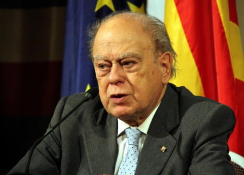 Jordi Pujol in a press conference a few months ago (by ACN)