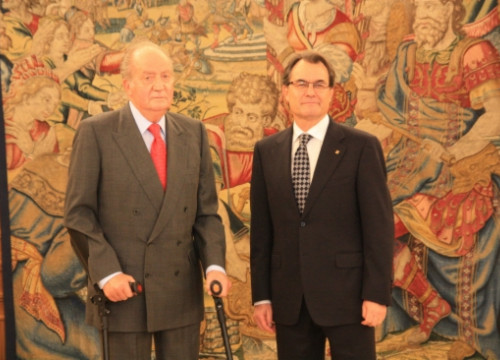 The King of Spain, Juan Carlos I (left), and the Catalan President, Artur Mas (right) (by R. Pi de Cabanyes)