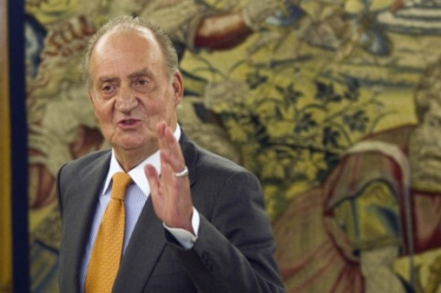 Former Spanish king Juan Carlos I at the Zarzuela palace (REUTERS)