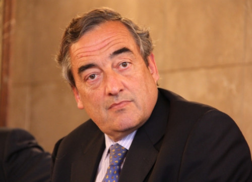 Juan Rosell, Chairman of the CEOE, a few months ago in Barcelona (by ACN)
