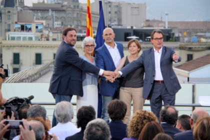 The presentation of the 'Junts pel Sí' unitary pro-independence list (by B. Fuentes)