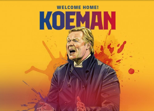 New FC Barcelona manager Ronald Koeman (image from FC Barcelona website)