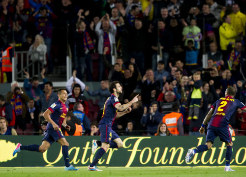 Cesc Fàbregas scored Barça's only goal against Levante (by FC Barcelona)