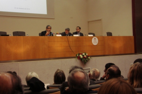 The debate on Catalonia's self-determination took place in the Faculty of Law of the University of Lisbon (by P. Mateos)