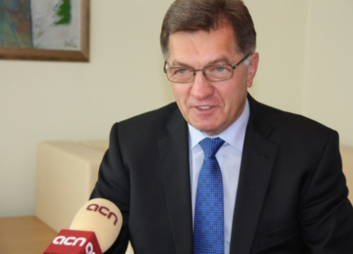 The Prime Minister of Lithuania, Algirdas Butkevicius, in the interview with the CNA (by L. Pous)