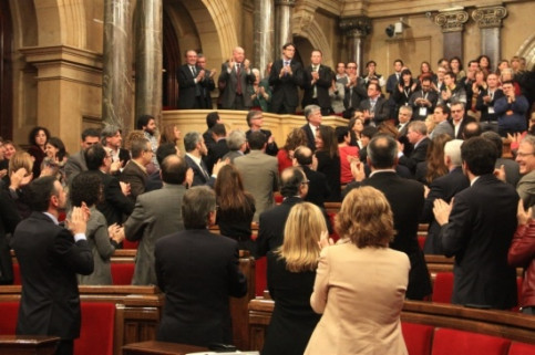 The Catalan Parliament celebrating the approval of the Val d'Aran's new status (by P. Mateos)