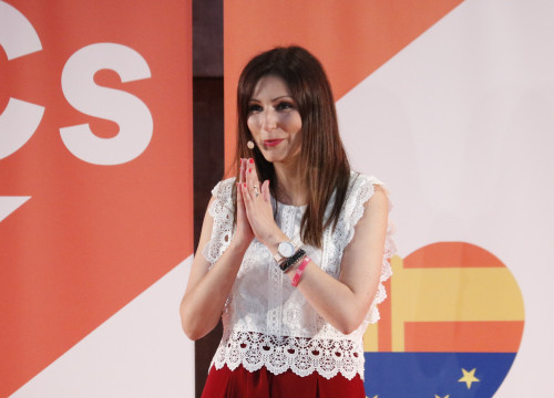 Lorena Roldán at the event presenting her as Ciutadans' new leader in Catalonia on July 27, 2019 (Gerard Artigas/ACN)