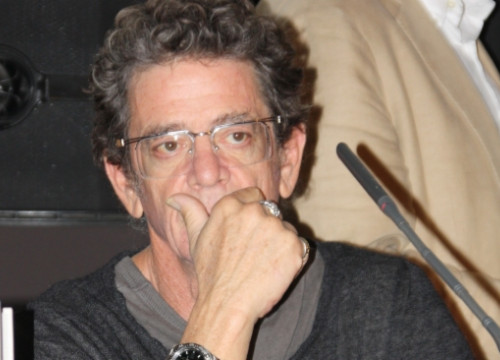 Lou Reed presenting 'Pass Thru Fire' in Barcelona in 2009 (by G. Sánchez)