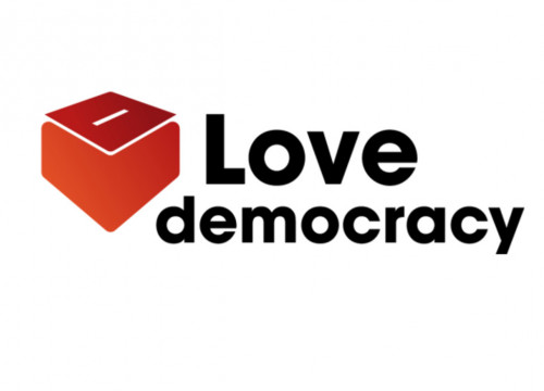 Logo of the 'Love Democracy' campaign (by ANC)