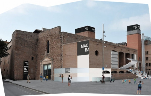 MACBA's new facilities, which were part of the former Àngels Convent (by MACBA)