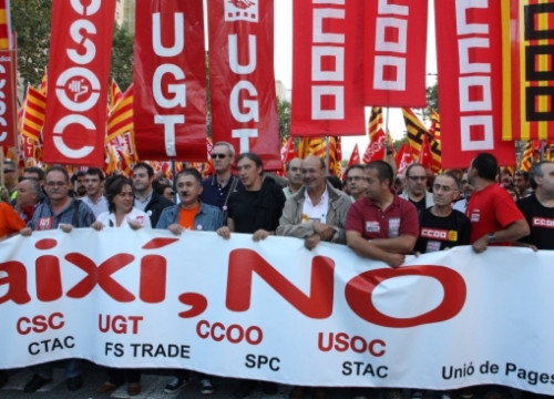 The trade union demonstration (by ACN)