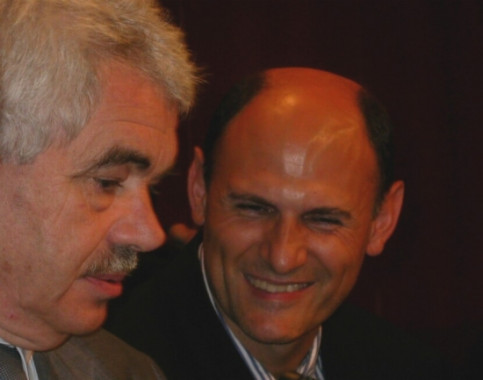 Juan Carlos Izpisúa (right) next to the former Catalan President, Pasqual Maragall (by ACN)