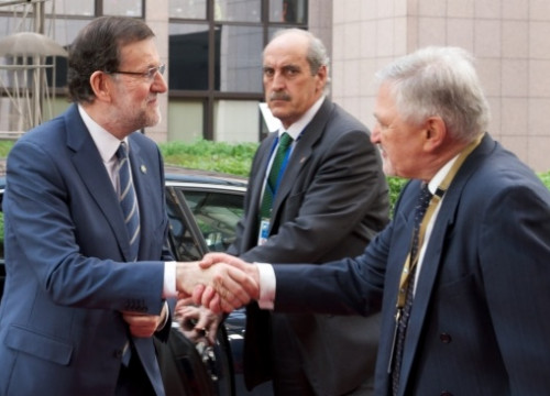 Spanish Prime Minister, Mariano Rajoy, on Thursday in Brussels (by European Council)