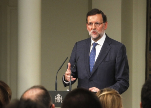 The Spanish Prime Minister, Mariano Rajoy, in the press conference held before the summer break (by Moncloa)
