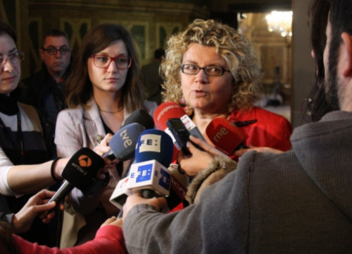 Marina Geli at the Catalan Parliament on Tuesday (by A. Moldes)