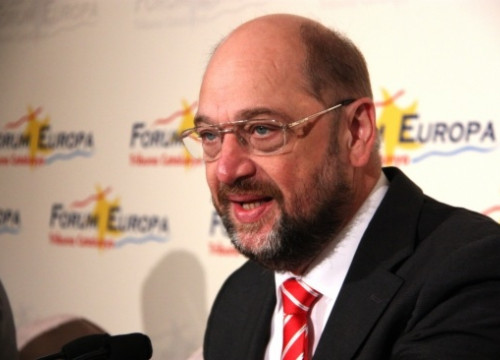Martin Schulz on Thursday in Barcelona (by R. Garrido)