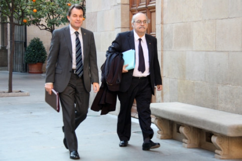 The Catalan President, Artur Mas (left) and the Catalan Minister for Economy, Andreu Mas-Colell (right) (by ACN)