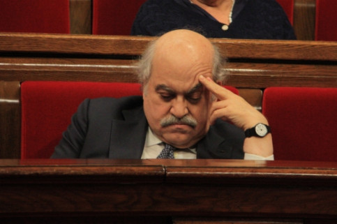 The Catalan Finance Minister, Andreu Mas-Colell, at the Catalan Parliament a few weeks ago (by ACN)