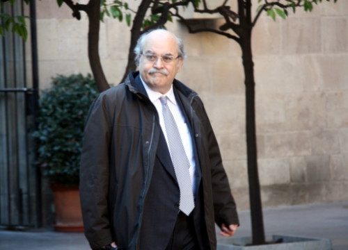 Andreu Mas-Colell, On Tuesday, before the weekly Cabinet Meeting (by M. Sierra)