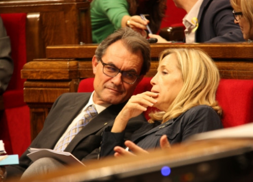 The Catalan President, Artur Mas (left) next to the Catalan Vice President, Joana Ortega, on Thursday (by ACN)